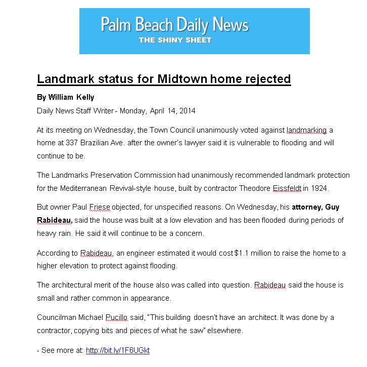 Shiny Sheet png_Landmark status for Midtown home rejected_April 14